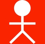 Pupke wit op rood x